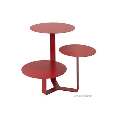 Table basse Trilogy rouge