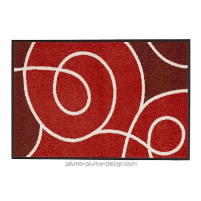 Tapis paillasson Swoop Rouge