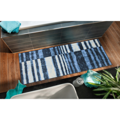 Tapis Denim stripes, 2 tailles