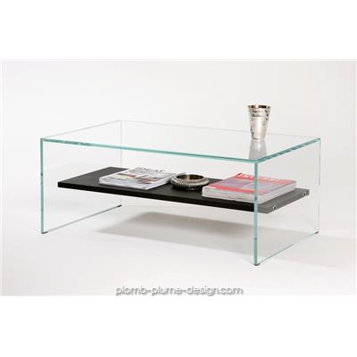 Table basse Transparence Wengé
