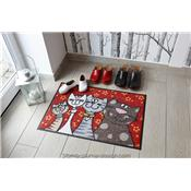 Tapis paillasson Famille chat
